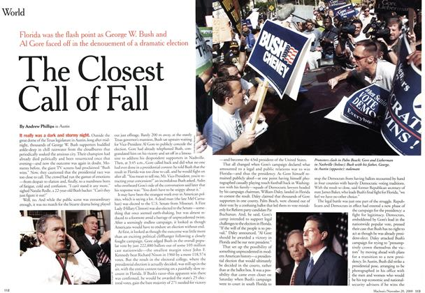 Article Preview: The Closest Call of Fall, November 2000 | Maclean's