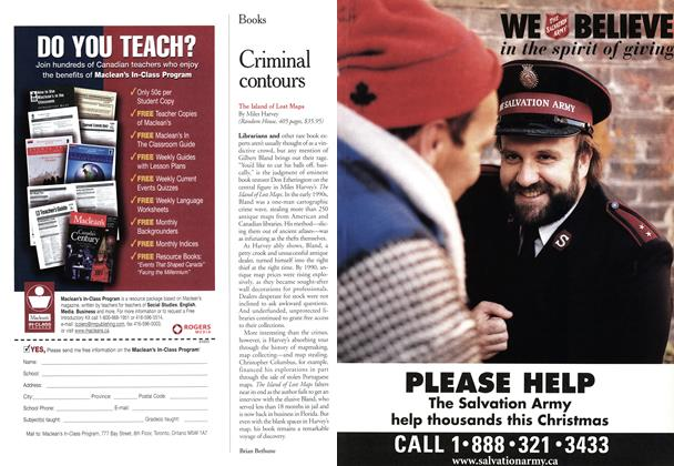 Article Preview: Criminal contours, November 2000 | Maclean's
