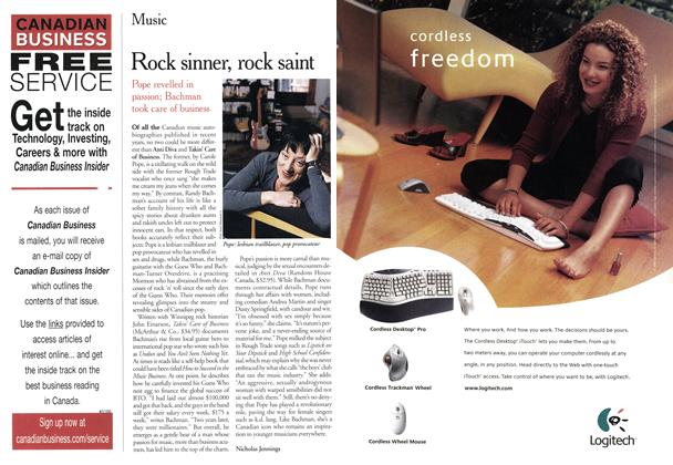 Article Preview: Rock sinner, rock saint, November 2000 | Maclean's
