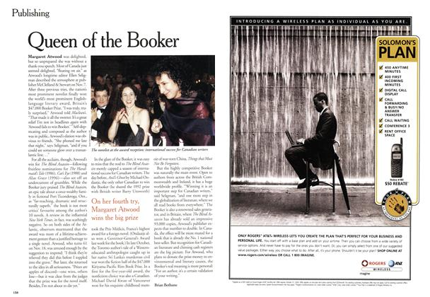 Article Preview: Queen of the Booker, November 2000 | Maclean's