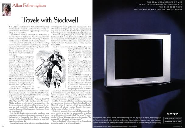 Article Preview: Travels with Stockwell, November 2000   Maclean's