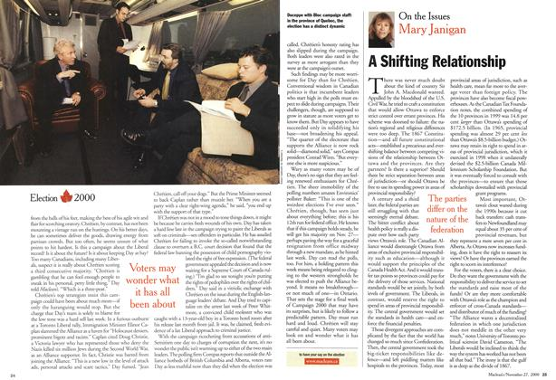 Article Preview: A Shifting Relationship, November 2000 | Maclean's