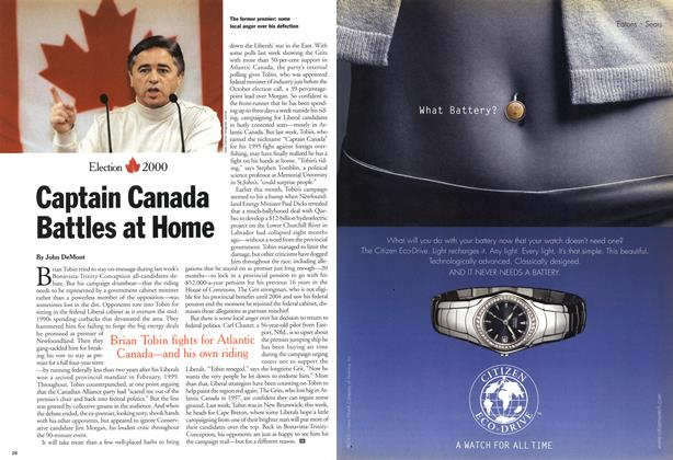 Article Preview: Captain Canada Battles at Home, November 2000 | Maclean's