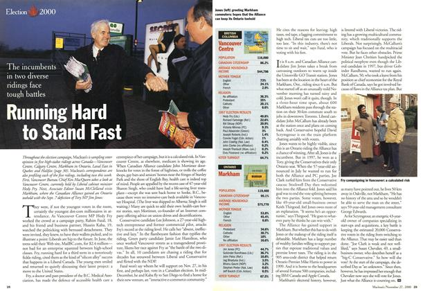 Article Preview: Running Hard to Stand Fast, November 2000 | Maclean's