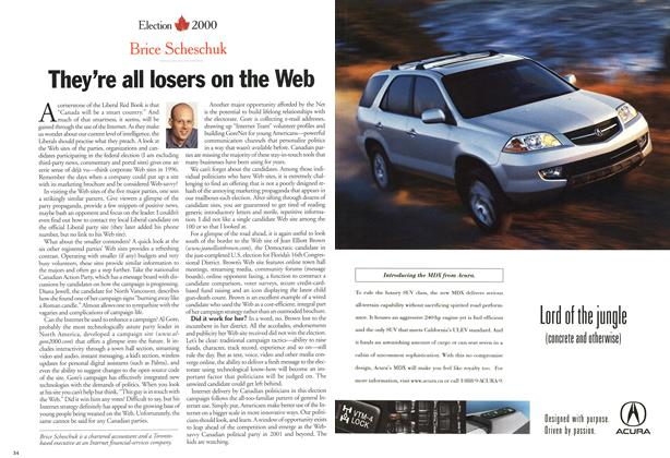 Article Preview: They're all losers on the Web, November 2000 | Maclean's