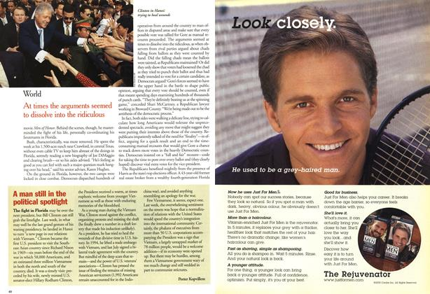 Article Preview: A man still in the political spotlight, November 2000   Maclean's