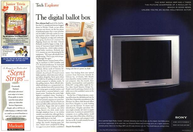 Article Preview: The digital ballot box, November 2000 | Maclean's