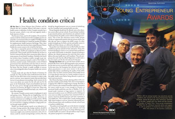 Article Preview: Health: condition critical, November 2000 | Maclean's