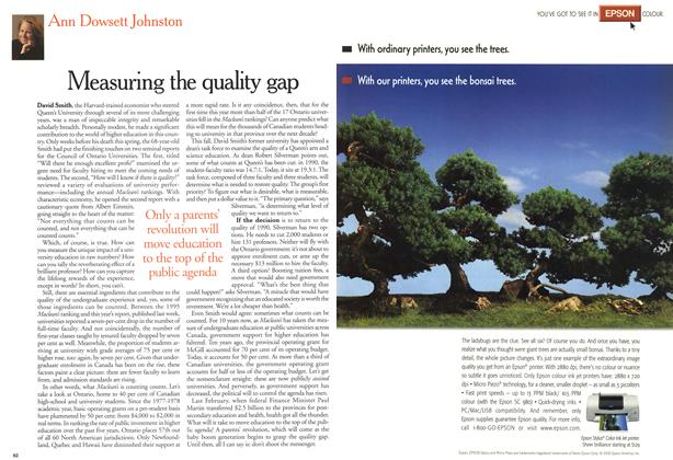 Article Preview: Measuring the quality gap, November 2000 | Maclean's