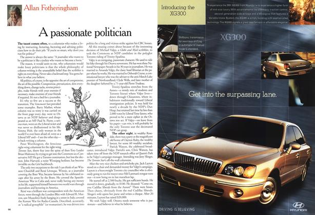 Article Preview: A passionate politician, November 2000 | Maclean's