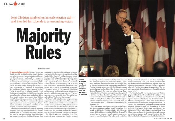 Article Preview: Majority Rules, December 2000 | Maclean's