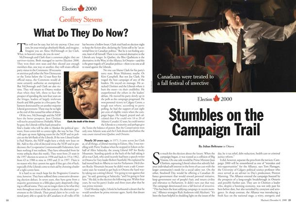 Article Preview: Stumbles on the Campaign Trail, December 2000 | Maclean's