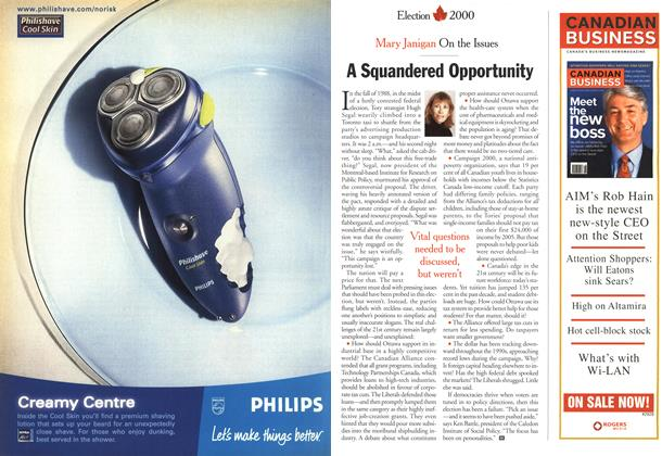 Article Preview: A Squandered Opportunity, December 2000 | Maclean's