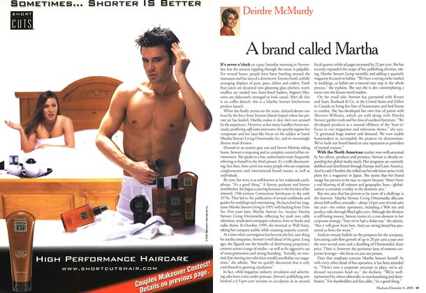 Article Preview: A brand called Martha, December 2000 | Maclean's