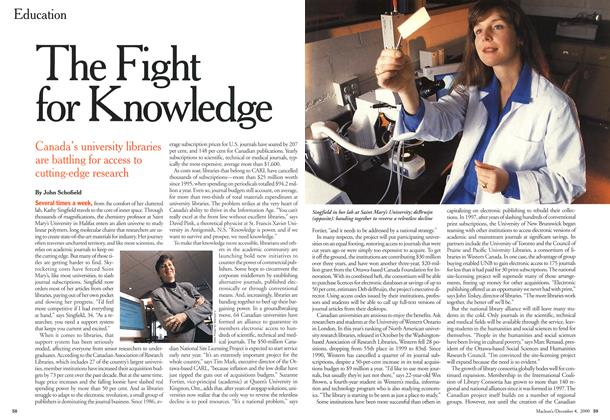 Article Preview: The Fight for Knowledge, December 2000 | Maclean's