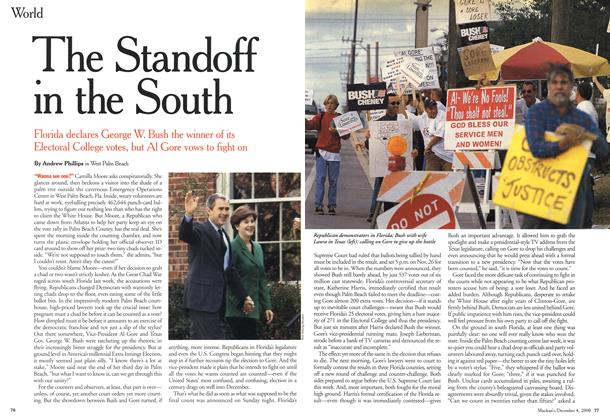 Article Preview: The Standoff in the South, December 2000 | Maclean's