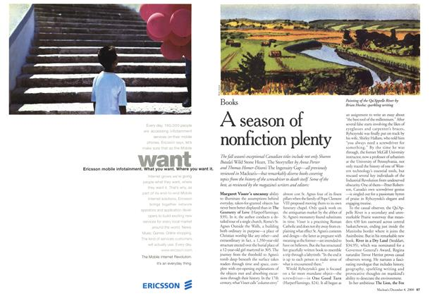 Article Preview: A season of nonfiction plenty, December 2000 | Maclean's