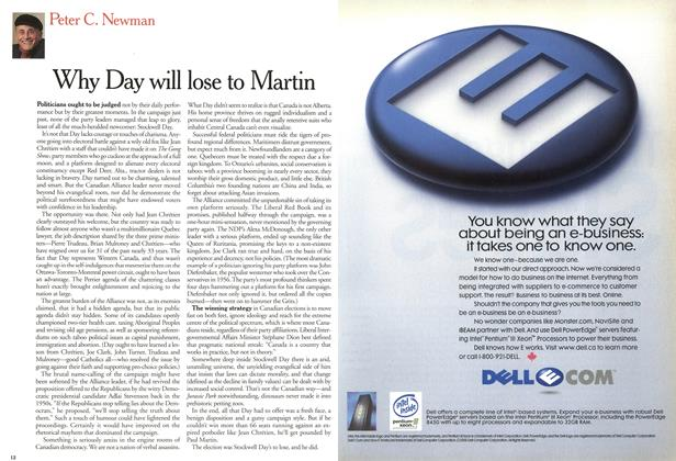 Article Preview: Why Day will lose to Martin, December 2000 | Maclean's