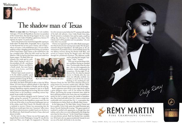 Article Preview: The shadow man of Texas, December 2000 | Maclean's