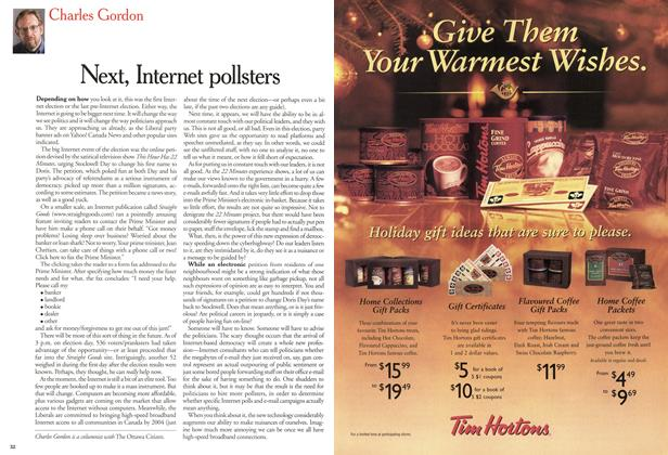 Article Preview: Next, Internet pollsters, December 2000 | Maclean's