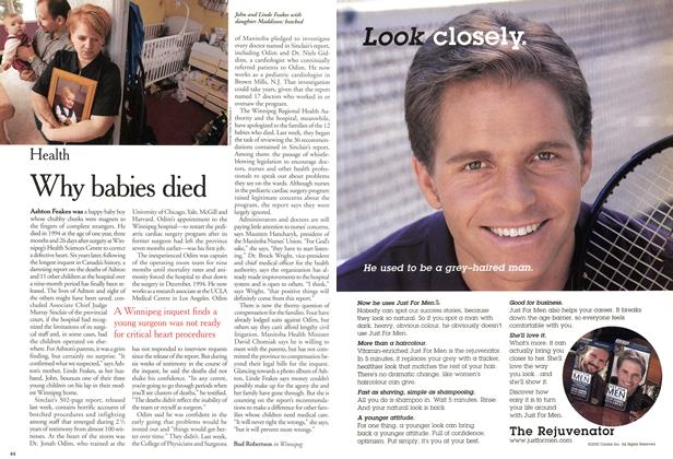 Article Preview: Why babies died, December 2000 | Maclean's