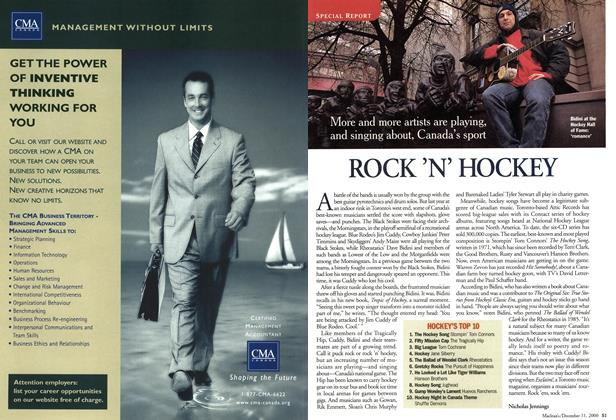 Article Preview: ROCK 'N' HOCKEY, December 2000 | Maclean's