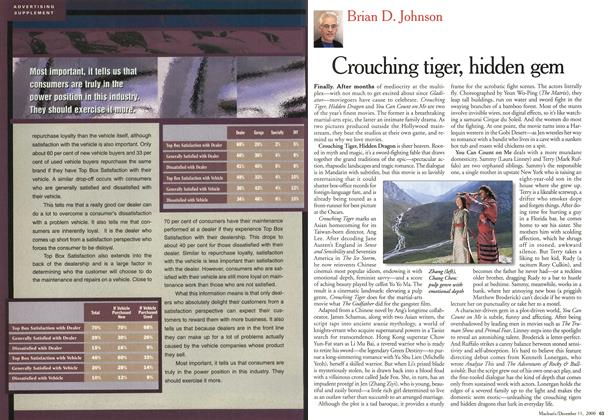 Article Preview: Crouching tiger, hidden gem, December 2000 | Maclean's