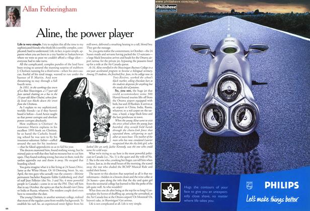 Article Preview: Aline, the power player, December 2000 | Maclean's