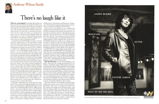 Article Preview: There's no laugh like it, December 2000 | Maclean's