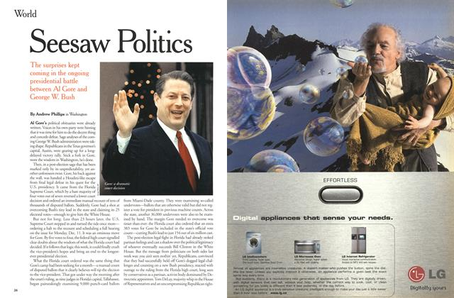 Article Preview: Seesaw Politics, December 2000 | Maclean's