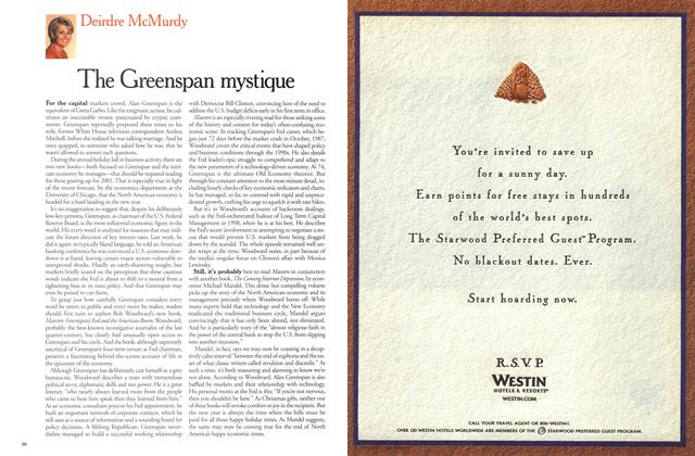 Article Preview: The Greenspan mystique, December 2000 | Maclean's