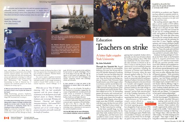 Article Preview: Teachers on strike, December 2000 | Maclean's