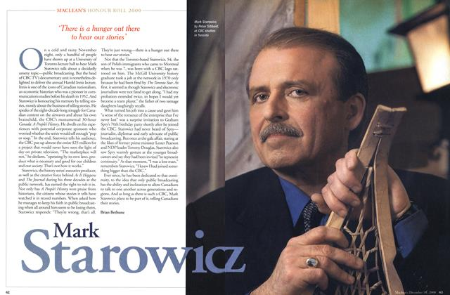 Article Preview: Mark Staowicz, December 2000 | Maclean's