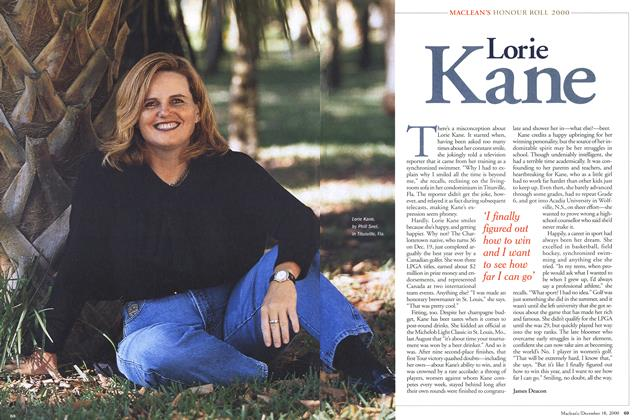 Article Preview: Lorie Kane, December 2000 | Maclean's