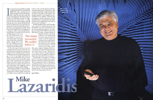 Article Preview: Mike Lazaridis, December 2000 | Maclean's