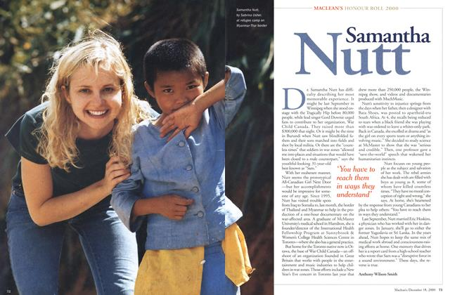 Article Preview: Samantha Nutt, December 2000 | Maclean's