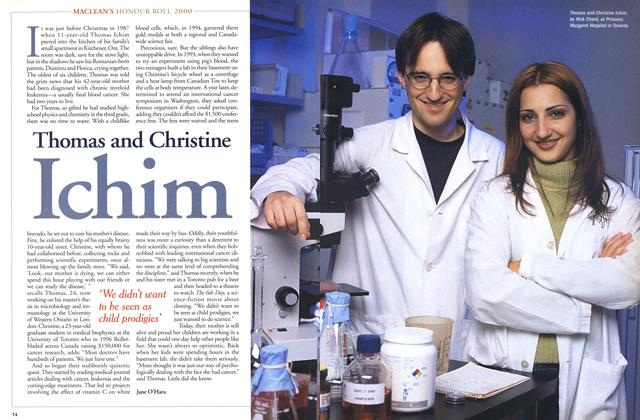 Article Preview: Thomas and Christine Ichim, December 2000 | Maclean's