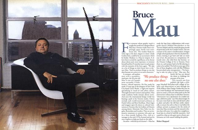 Article Preview: Bruce Mau, December 2000 | Maclean's