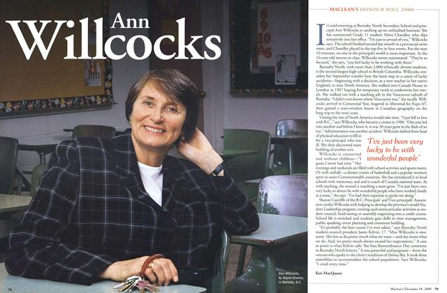 Article Preview: Ann Willcocks, December 2000 | Maclean's
