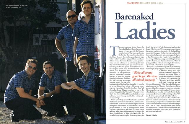 Article Preview: Barenaked Ladies, December 2000 | Maclean's