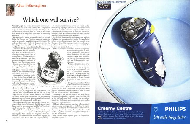 Article Preview: Which one will survive?, December 2000 | Maclean's