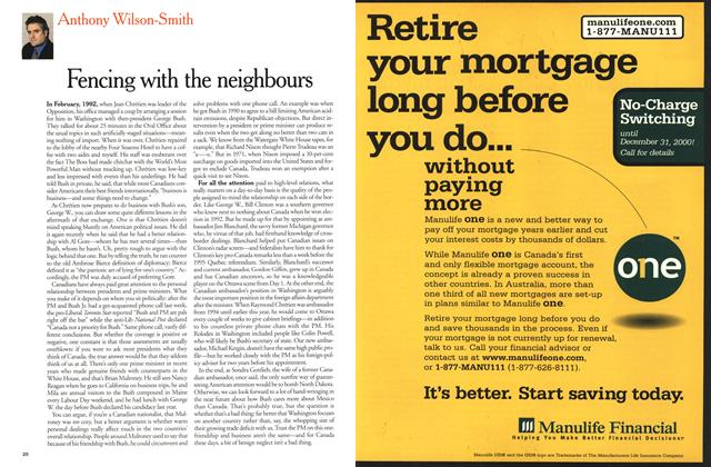 Article Preview: Fencing with the neighbours, December 25, 2000/January 1, 2001 2000 | Maclean's