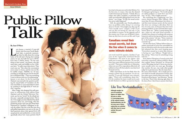 Article Preview: Public Pillow Talk, December 25, 2000/January 1, 2001 2000 | Maclean's