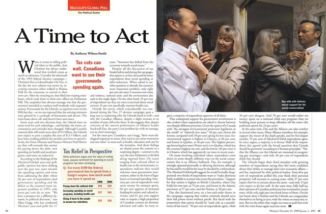 Article Preview: A Time to Act, December 25, 2000/January 1, 2001 2000 | Maclean's
