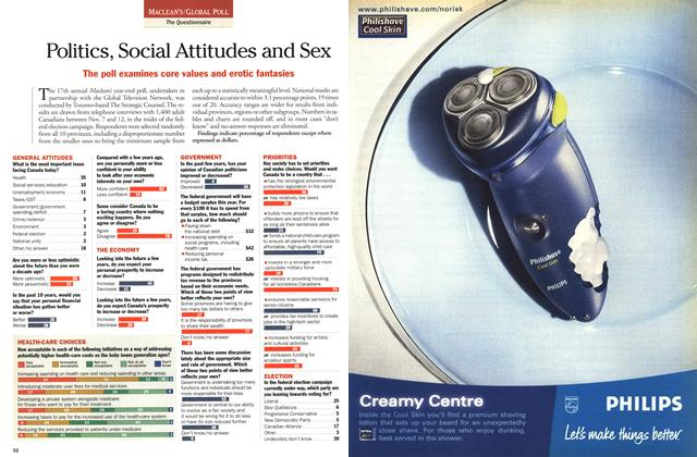 Article Preview: Politics, Social Attitudes and Sex, December 25, 2000/January 1, 2001 2000 | Maclean's