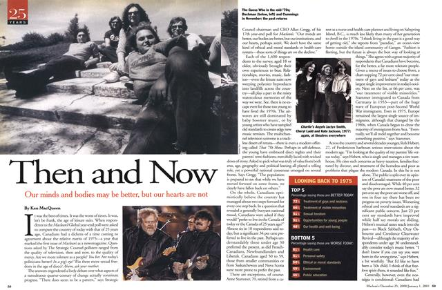 Article Preview: Then and Now, December 25, 2000/January 1, 2001 2000 | Maclean's