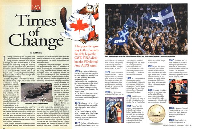 Article Preview: Times of Change, December 25, 2000/January 1, 2001 2000   Maclean's