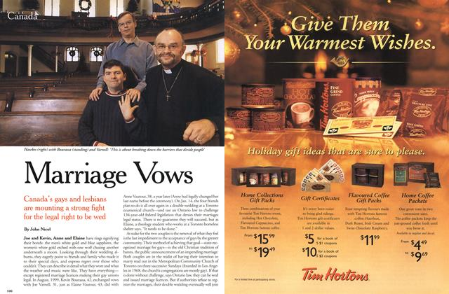 Article Preview: Marriage Vows, December 25, 2000/January 1, 2001 2000 | Maclean's