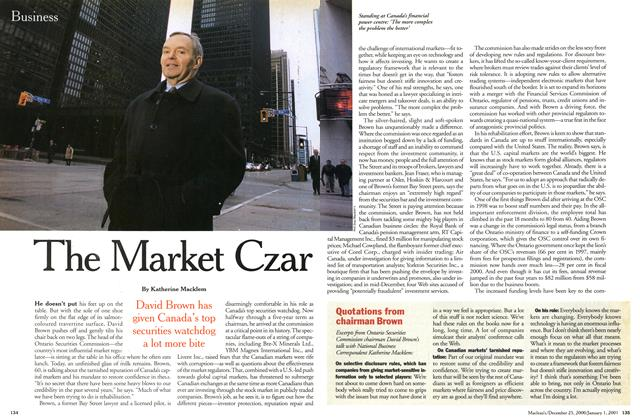 Article Preview: The Market Czar, December 25, 2000/January 1, 2001 2000 | Maclean's