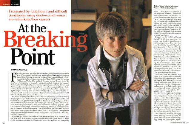 Article Preview: At the Breaking Point, January 2001 | Maclean's
